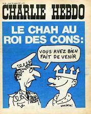 """""""CHARLIE HEBDO N°48 du 18/10/1971"""" WOLINSKI : LE CHAH et le ROI DES CONS"""