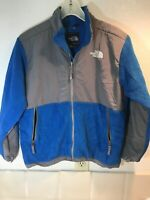 The North Face Denali Full Zip Blue Grey Fleece Jacket Boys Large 14/16 Coat