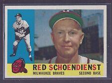 1960 Topps #335 Red Schoendienst Milwaukee Braves NM Plus
