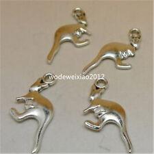 20pc Retro Tibetan Silver kangaroo Charm Beads Pendant accessories FindingsJP552