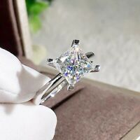 Quadrat Zirkonia Ring Exquisite Schmuck Hochzeit Damen Finger cRUWK