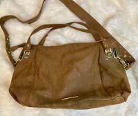 Steve Madden Brown Large Handbag Crossbody Tote Purse Satchel Boho 17x12