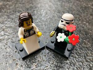 Star wars Themed Wedding Cake Top Bride Groom Married Minifigure Decoration #262