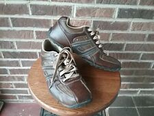 Men's Skecher Brown Leather Driving Lace up Shoes