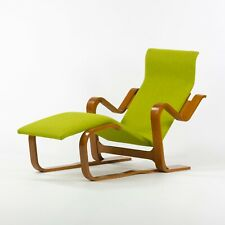 1960s Marcel Breuer for Knoll Isokon Chaise Lounge Chair in Green Upholstery