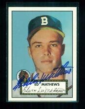 Eddie Mathews Signed 1997 Topps Stars Rookie Reprint #9 NM Braves Auto NM a8592