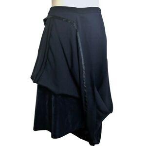 Rare Maison Martin Margiela for H&M Navy Hitched Up Skirt UK12 US8 BNWT