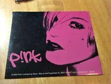 "PINK ~ STICKER ~ DECAL ~ 4"" x 4"" ~ BAND ~ LOGO ~ 2002"