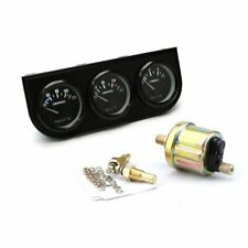 2'' 52mm Oil Pressure Gauge Oil Temperature Meter Water Temp Triple 3in1 Kit