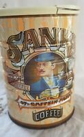 Vintage 1981 SANKA 97% Caffein Free Coffee Collectible Can Tin With Lid