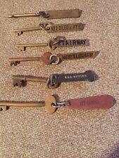 Vintage Brass Ship's Keys & Fobs (6)