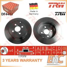 2x REAR BRAKE DISC SET FOR TOYOTA TRW OEM 4243102082 DF4404 GENUINE HEAVY DUTY