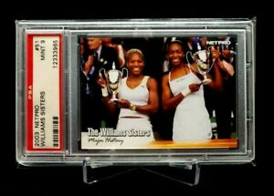2003 Netpro #51 Williams Sisters Serena Venus Rookie Rc PSA 9 LOW POP