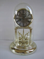 "Sharp Quartz 12"" Anniversary Clock Battery Run Glass Dome Works for Parts Repair"