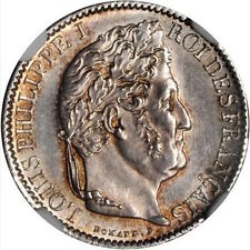 FRANCE LOUIS PHILIPPE 1846-A  50 CENTIMES COIN, UNCIRCULATED CERTIFIED NGC MS-63