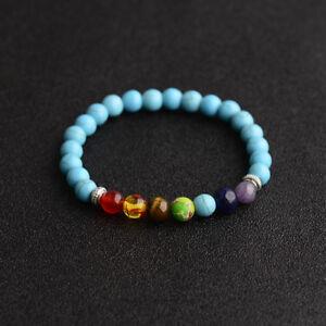 Hot Natural Stone 8mm Gemstone Beads Women Men Bracelets Charm Christmas Gifts