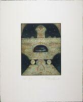 Thomas O'Donoghue Modern Abstract, Vintage Serigraph Print Aquatint Etching