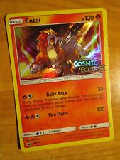 NM PRERELEASE Pokemon ENTEI Card BLACK STAR PROMO Set SM219 Holo Cosmic Eclipse