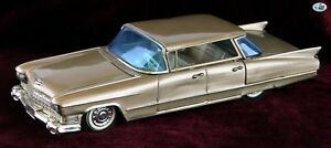 Awesome 1960 Vintage Japan Bandai Co. Cadillac Gold Sedan Friction Toy Car
