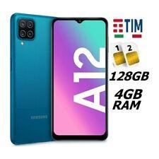 SAMSUNG GALAXY A12 DUAL SIM SM- A125 DS 128GB RAM 4GB BLUE ITALIA BRAND TIM