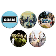 5x Oasis Band Brit Pop Indie 25mm / 1 Inch D Pin Button Badges