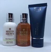 Molton Brown Black Peppercorn Body Wash & Body Lotion 50ml & Hydrator Ultra Lig