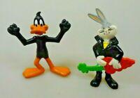 Looney Tunes 2 Sammelfiguren Bugs Bunny - Konica Band + Daffy Duck - WBI `91