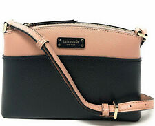 Kate Spade Jeanne Leather Crossbody Black / Beige-Pink WKRU6037 NWT $199 Retail