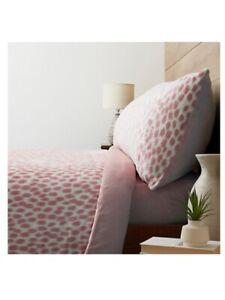 Cozee Home Dappled Dots Velvetsoft superking 4 piece duvet set in blush pink