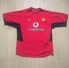 Maillot Foot Manchester United Vodafone XL 2003-2004 Rooney Cantona