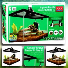 Reptile Habitat Setup Aquarium Tank Kit Filter Screen Lid Bask Lamp Frog Turtle