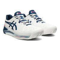 Asics Mens Gel-Resolution 8 Clay Tennis Shoes White Sports Breathable