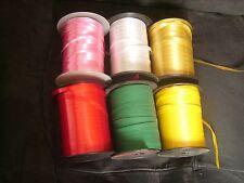 Lot de 6 grandes bobines professionnelles de Bolduc 6 couleurs différentes