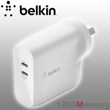 Belkin Boostcharge Dual Usb-c PD Gan Wall Charger 68w WCH003AUWH