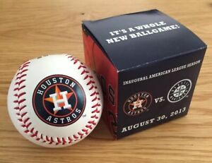 Houston Astros Inaugural American League Season Commemorative Baseball
