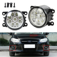 for Honda Subaru Ford Focus 9LED Round Front Fog Lights DRL Daytime RunningLight