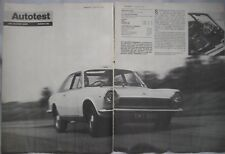 1968 Fiat 124 Sport Coupe Original Autocar magazine Road test