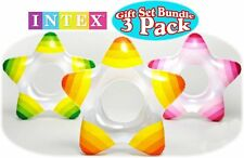 Intex Star Inflatable Swimming Pool Tube Raft Swim Rings 3 Pack | 59243EP