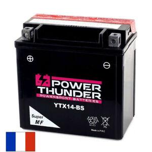 Batterie 12 V 11.2 Ah POWER Thunder YTX14-BS CTX14-BS GTX14-BS - moto scooter