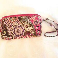 Vera Bradley Very Berry Paisley Wristlet Wallet Clutch Purse Floral Garden Pink