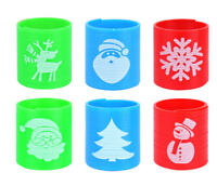 6 Christmas Springs - Christmas Gift Party Kids Xmas Stocking Filler Bag Toy