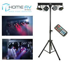 QTX Cluster FX Bar Party Bar LED DJ Disco Lighting System with Stand & Remote