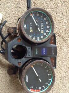 Kawasaki Z250 KZ 250 Speedo Clocks  Showing 10544 Miles