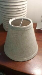 Lamp shade Approx 6 in tall - off white - small