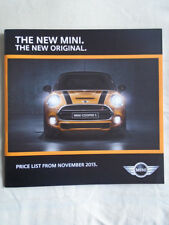 Mini Hatch Price List brochure Nov 2013
