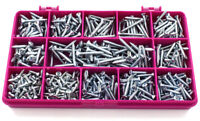 40mm LENGTH 4g 6g 8g CURTAIN 350 PIECE ZINC PLATED SCREW EYES /& HOOK KIT 12mm