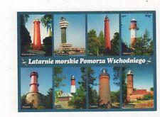 Latarnie Morskie Pomorza Wschodniego Poland Lighthouses Postcard 407a ^