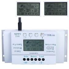 LCD 10/20/30/40A 12/24V MPPT Panneau solaire Contrôleur de charge Régulateur EA
