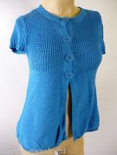 ☆ Ladies Blue Short Sleeved Cardigan Top UK 10 EU 38 ☆