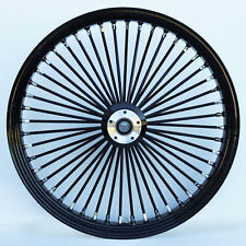 "FAT SPOKE FRONT WHEEL BLACK 21"" HARLEY SPORTSTER DYNA SUPER GLIDE LOW RIDER"